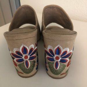 Aldo Shoes - Aldo Embroidered Block Heels